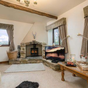 Higher Scholes Cottage lounge